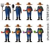 fruit farmers vector | Shutterstock .eps vector #578891569