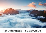 creamy fog covered the famous... | Shutterstock . vector #578892505