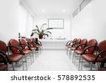 red chair in office | Shutterstock . vector #578892535