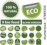 eco stickers. vector | Shutterstock .eps vector #57889333
