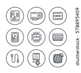 computer components line icons...   Shutterstock .eps vector #578895409