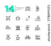 traveling   modern line design... | Shutterstock . vector #578899351