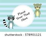 cute raccoon and koala bear... | Shutterstock .eps vector #578901121