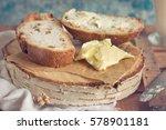 fresh baked bread | Shutterstock . vector #578901181