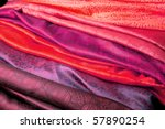 Red And Purple Silk Fabric Fro...