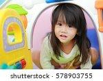 Cute Asian Child Girl Playing...