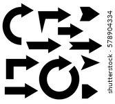 arrow set solid | Shutterstock .eps vector #578904334
