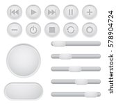 user interface buttons set.... | Shutterstock . vector #578904724