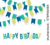 happy birthday card template... | Shutterstock .eps vector #578906485