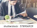 stress businessman reading... | Shutterstock . vector #578906929