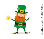 saint patrick's day. funny... | Shutterstock .eps vector #578914045