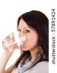 woman drink water | Shutterstock . vector #57891424