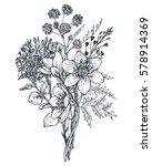 floral composition. bouquet... | Shutterstock .eps vector #578914369