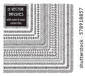 vector decorative scribble... | Shutterstock .eps vector #578918857