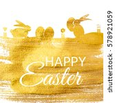 happy easter spring holiday... | Shutterstock .eps vector #578921059