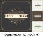 royal logo design template... | Shutterstock .eps vector #578922475