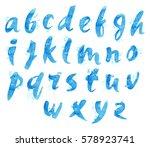 watercolor picturesque alphabet.... | Shutterstock . vector #578923741