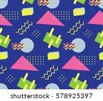 90's style seamless pattern | Shutterstock .eps vector #578925397