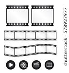 Real Film Strips With Icon  ...