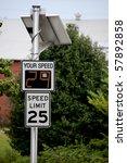 a solar powered radar speed... | Shutterstock . vector #57892858