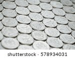 collection of two rubles coins... | Shutterstock . vector #578934031
