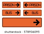 prison pointer  vector arrow... | Shutterstock .eps vector #578936095