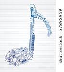 variety of hand drawn... | Shutterstock .eps vector #57893959