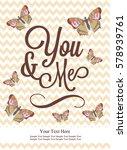 love card design. vector... | Shutterstock .eps vector #578939761
