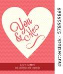 love card design. vector... | Shutterstock .eps vector #578939869