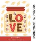 love card design. vector... | Shutterstock .eps vector #578939905