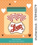 love card design. vector... | Shutterstock .eps vector #578940079