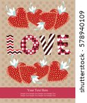 love card design. vector... | Shutterstock .eps vector #578940109