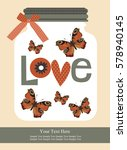 love card design. vector... | Shutterstock .eps vector #578940145