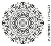 mandala. vector ethnic oriental ... | Shutterstock .eps vector #578941285