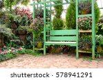 Empty Wooden Bench During A...