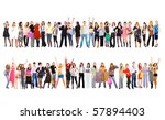 2 large groups. groups of... | Shutterstock . vector #57894403