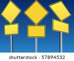 blank road sign | Shutterstock .eps vector #57894532