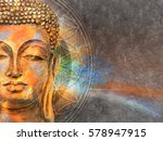 Head Of Lord Buddha Digital Ar...