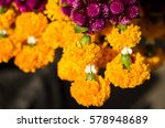Small photo of Flower garland for hallow holy things or holy objects in Thailand