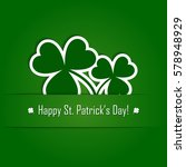 vector paper shamrock on green... | Shutterstock .eps vector #578948929