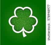 vector paper shamrock on green... | Shutterstock .eps vector #578948977