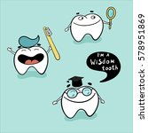 cute teeth character set with... | Shutterstock .eps vector #578951869