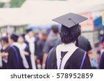 blurred back of graduates... | Shutterstock . vector #578952859