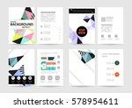 memphis geometric background... | Shutterstock .eps vector #578954611