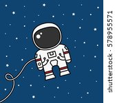 astronaut floating in outer... | Shutterstock .eps vector #578955571