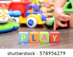 little baby hand playing with... | Shutterstock . vector #578956279