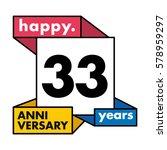 33 years anniversary...   Shutterstock .eps vector #578959297