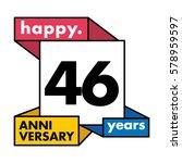 46 years anniversary...   Shutterstock .eps vector #578959597