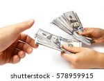 money dollars in the hands on a ... | Shutterstock . vector #578959915