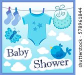 baby shower theme image 1  ... | Shutterstock .eps vector #578961844